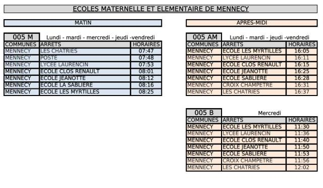 Image horaire circuit scolaire Mennecy