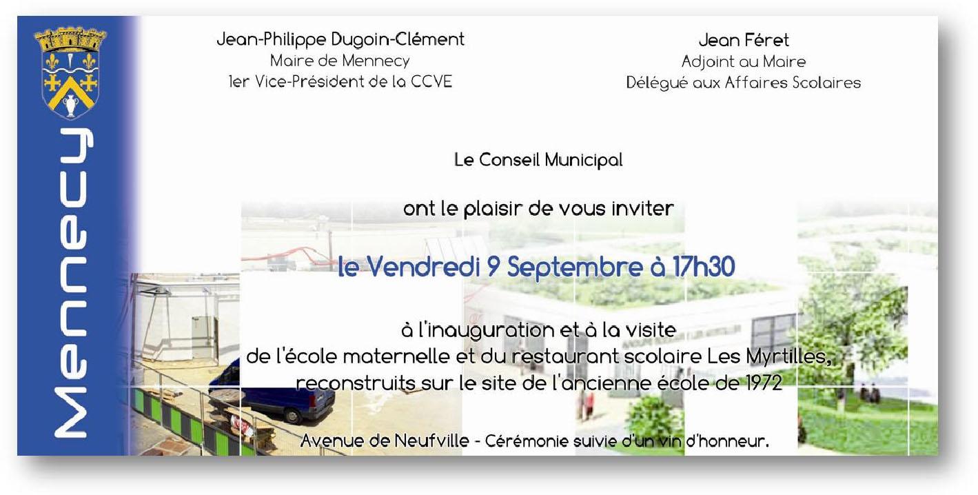 Super Inauguration de l'école maternelle Les Myrtilles | Ecoles de Mennecy SU59