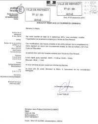Image courrier Dasen horaires clos Renault V2