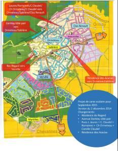 carte scolaire 2015
