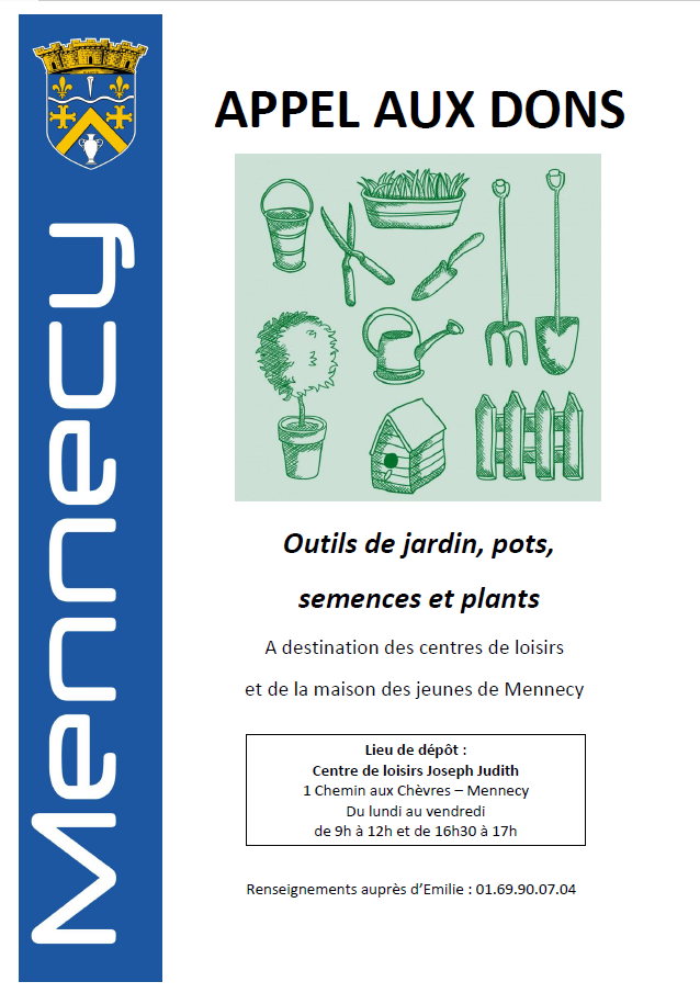 Affiche dons outils jardinage